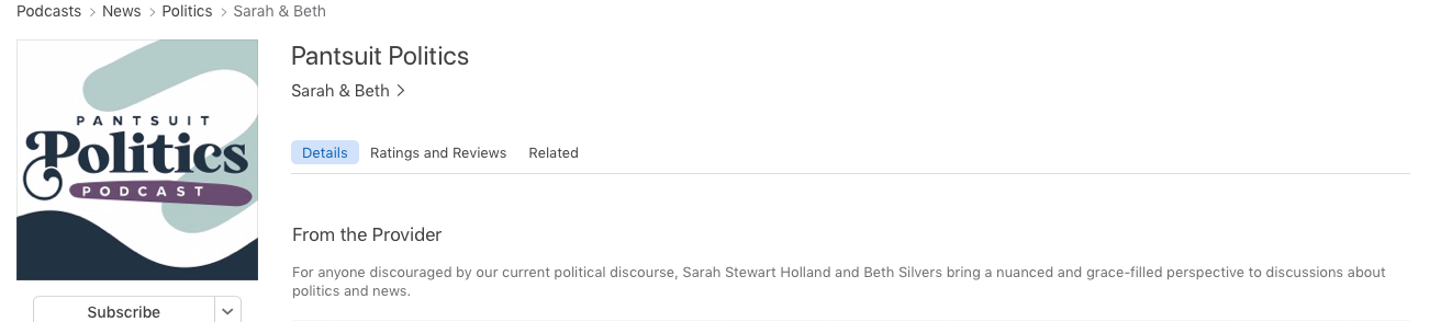 Pantsuit Politics Podcast by Sarah & Beth