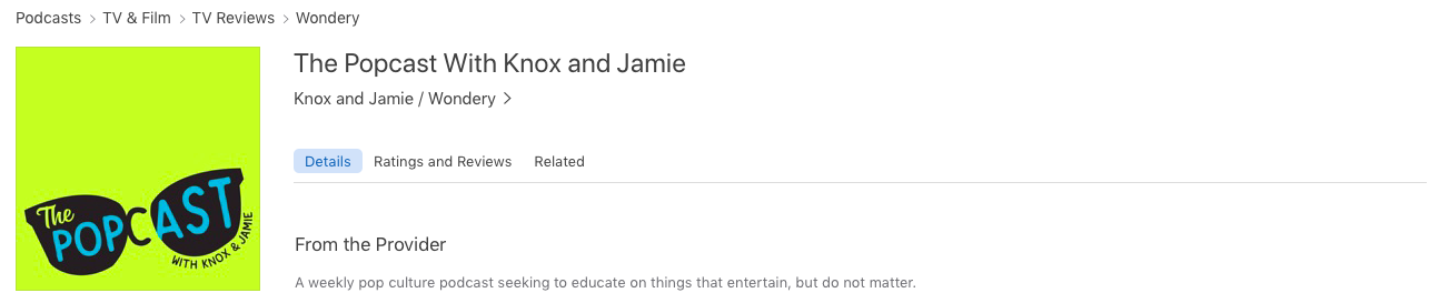 The Podcast podcast by Knox & Jamie
