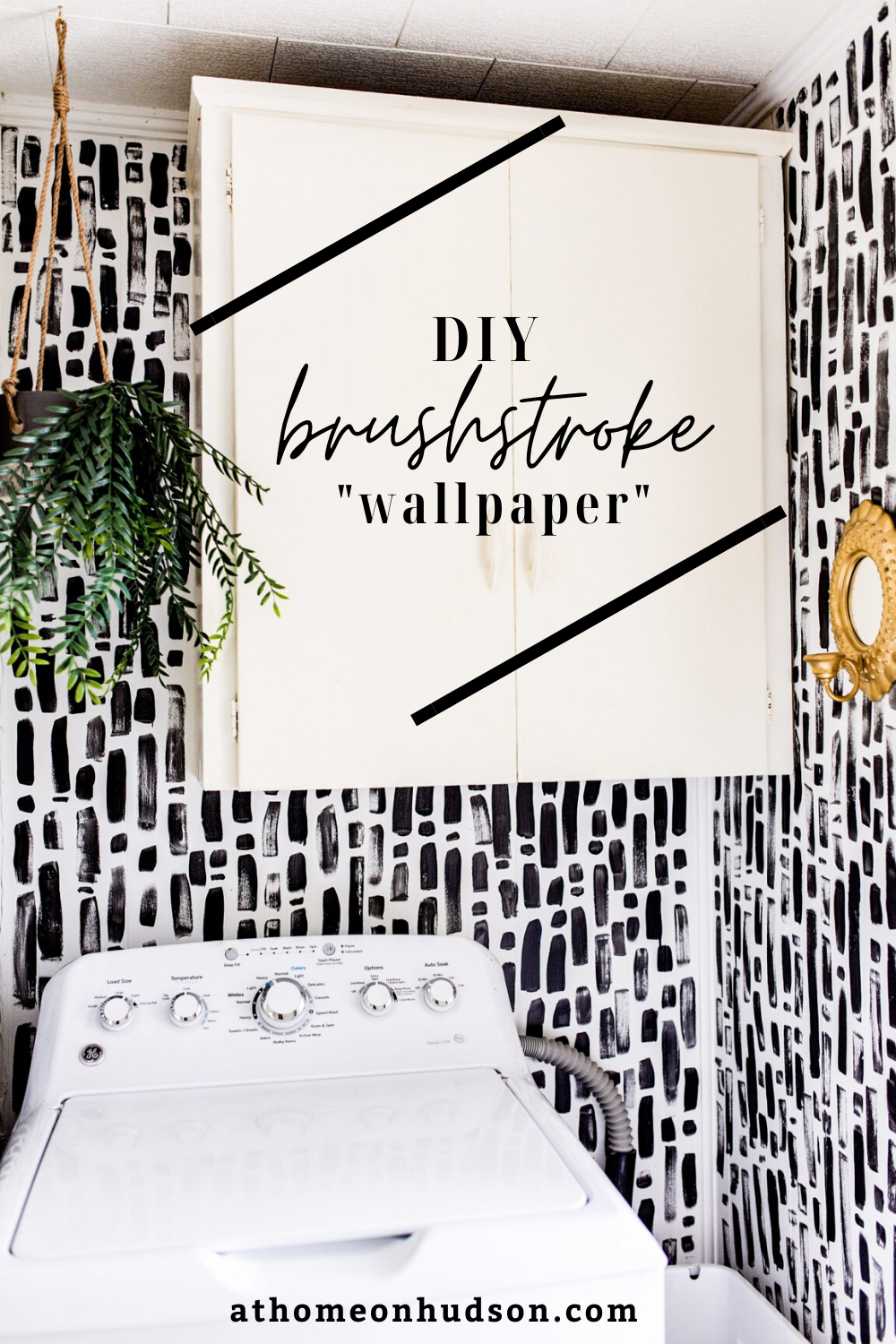 Can't find a wallpaper you like? Look no further than this $0.00 home upgrade DIY brushstroke faux wallpaper hack! It only takes a couple of hours and can be done with supplies you have on hand.