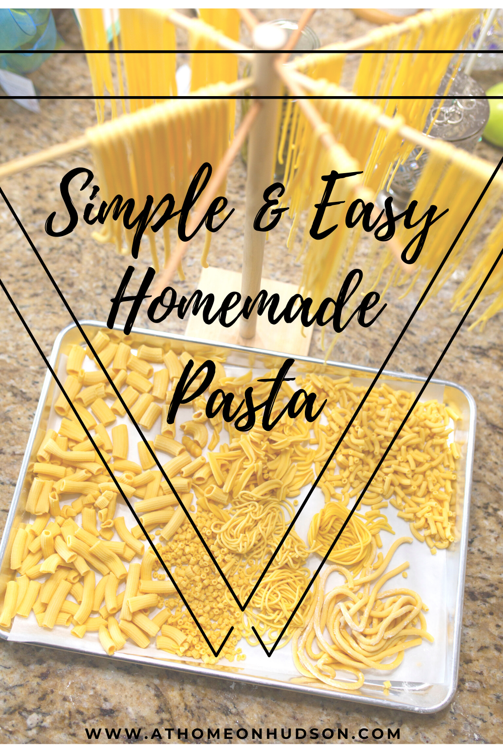 Making your own simple and easy homemade pasta is not only yummy but fun! This is a great activity for all ages. Step-by-step instructions with pictures!