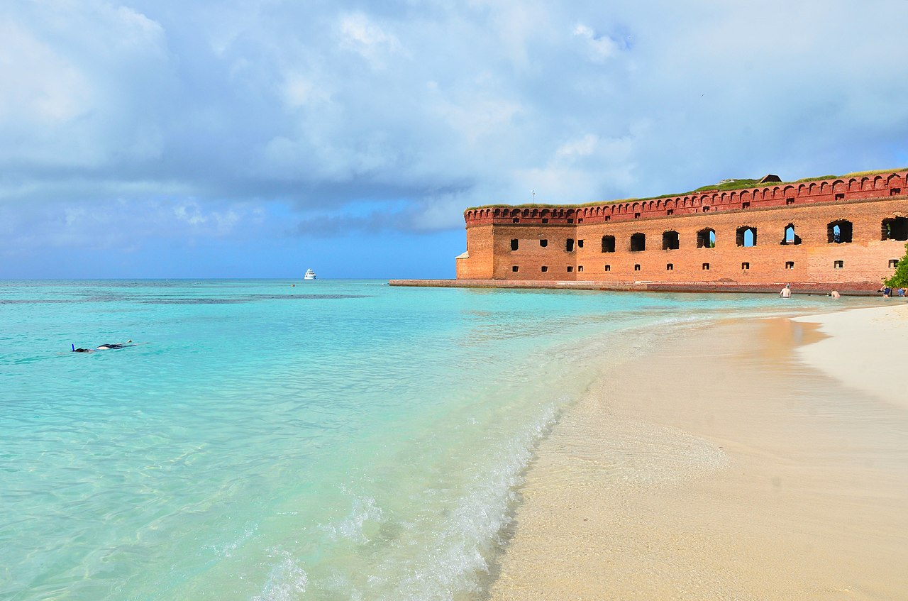Dry Tortugas National Park near Key West, Florida is in my top 10 favorite beautiful places in the US to visit.